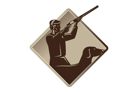 Hunter Shooting Rifle Retriever Dog