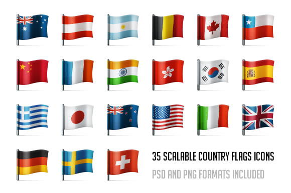 Country Flags Icon Set