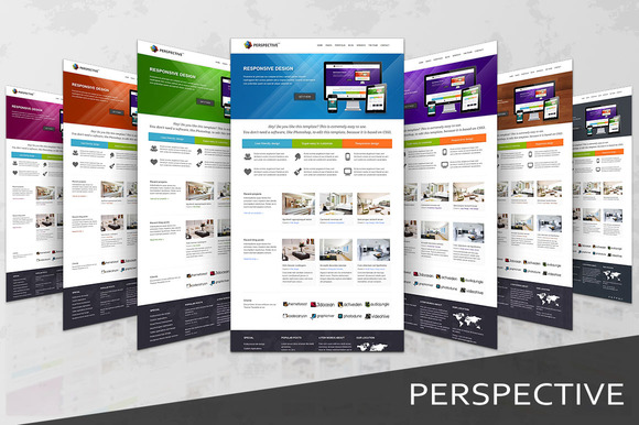 Perspective Responsive HTML5 Templ