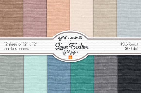 Linen Texture Digital Paper