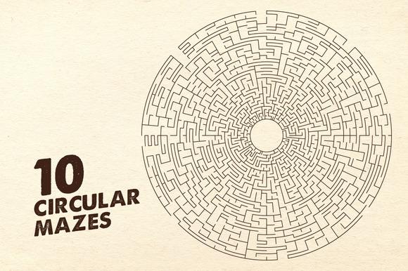 10 Circular Mazes