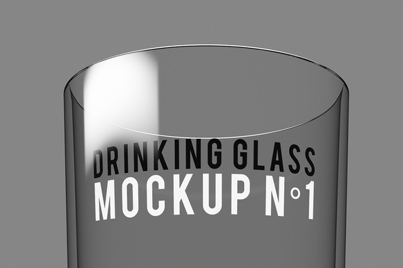 Drinking Glass Mockup NЎг1