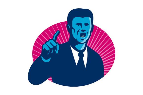 Blue Businessman Politician Poin