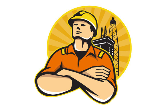Offshore Oil And Gas Worker Rig Retr