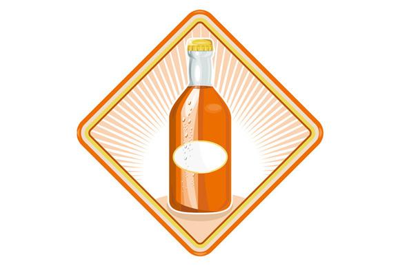 Vector Illustration Of An Orange Sod