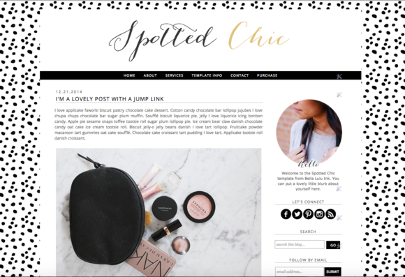Spotted Chic Premium Blogger Theme