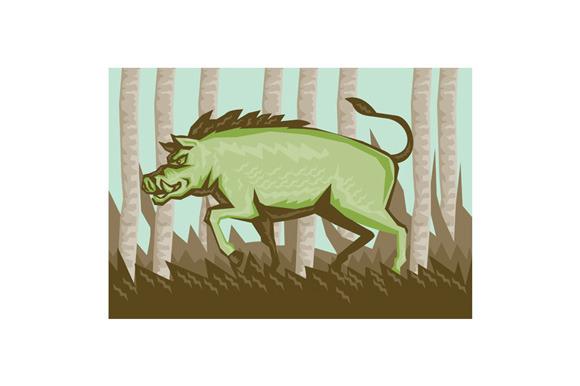 Razorback Wild Pig Boar Attackin