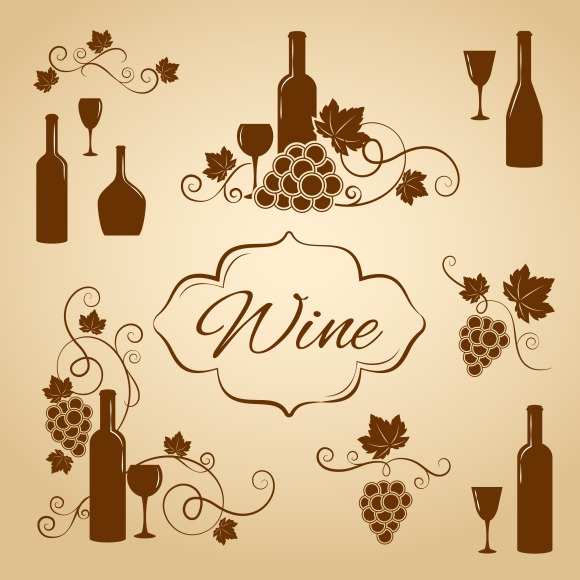 Vintage Wine Design Elements 4 Menu