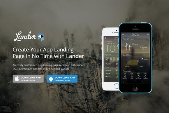 Lander Responsive App Landing