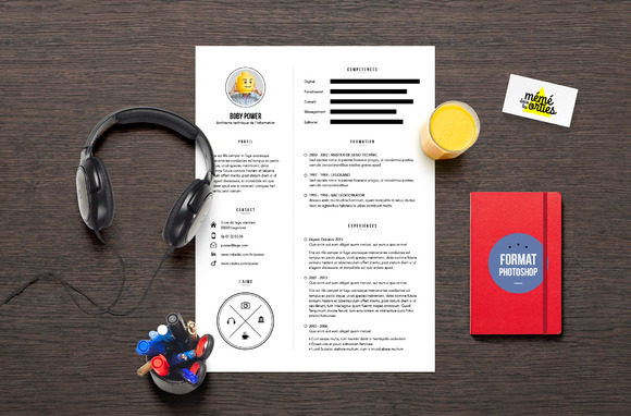 CV Resume Template Photoshop