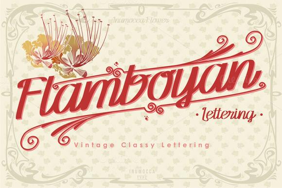 Flamboyan Lettering