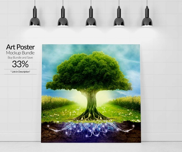 Art Poster Mockup 4