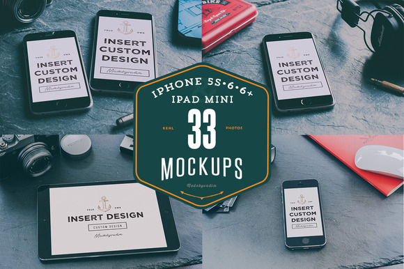 33 IPhones 5s 6 6 IPad Mockups