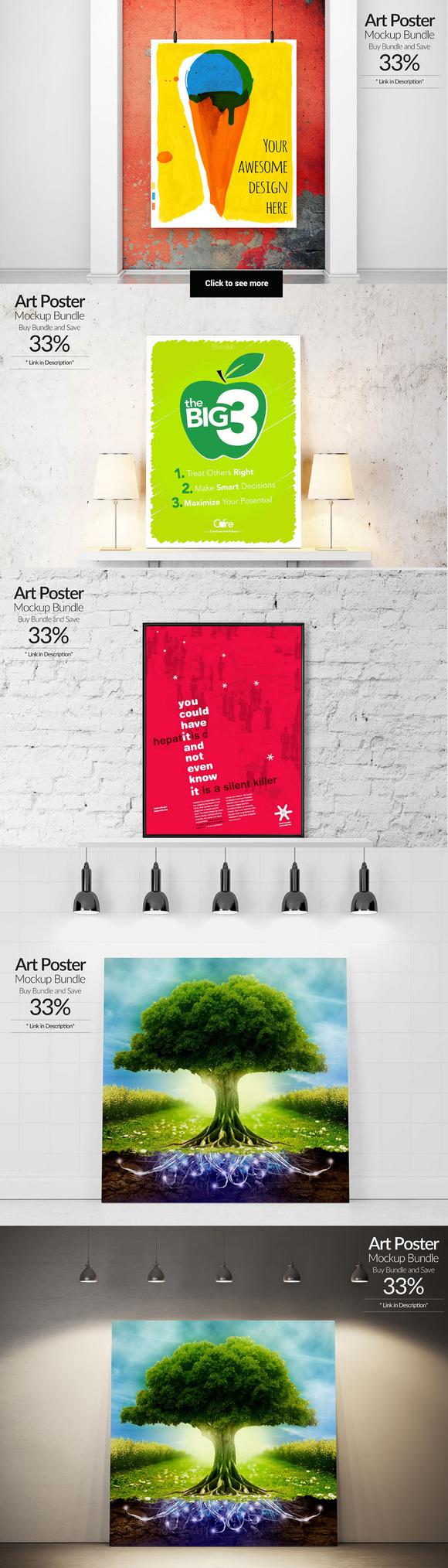 Art Poster Mockup Bundle