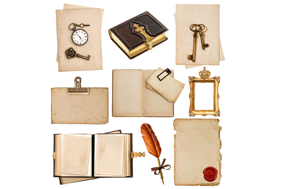 Aged Papers And Vintage Accessories