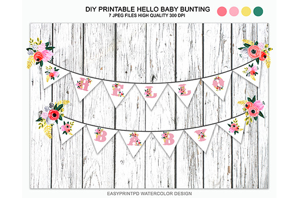 DIY Printable Hello Baby Bunting