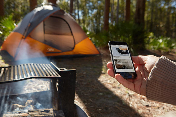 Camping Collection IPhone Tent PSD