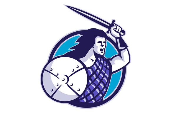Scottish Scotland Highlander Warrior