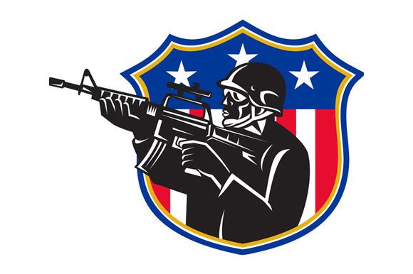 Soldier Swat Policeman Rifle Shield
