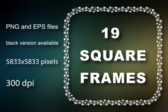 19 Square Digital Frames
