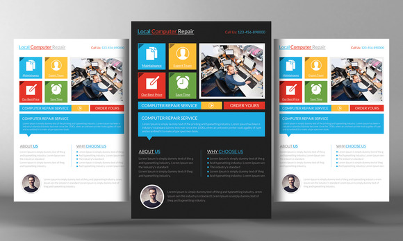 Computer Service Flyer Template