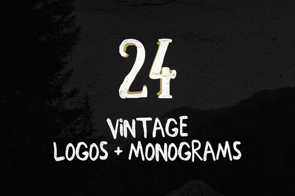 24 Vintage Logos Monograms Pack