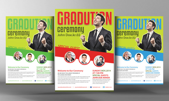 Pastor S Graduation Ceremony Flyer