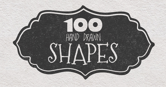 100 Hand Drawn Shapes
