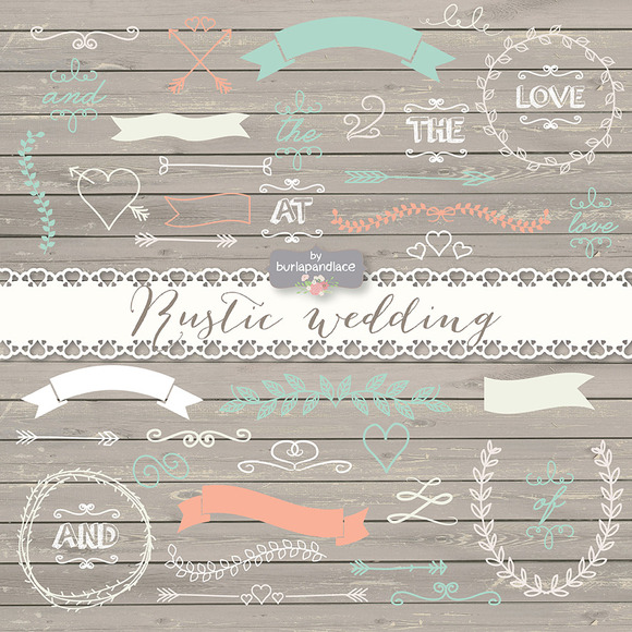 Vector Rustic Wedding