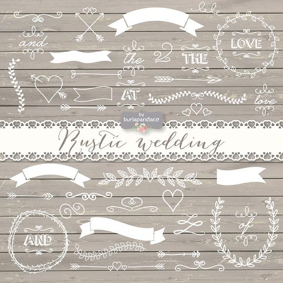 Vector Rustic Wedding