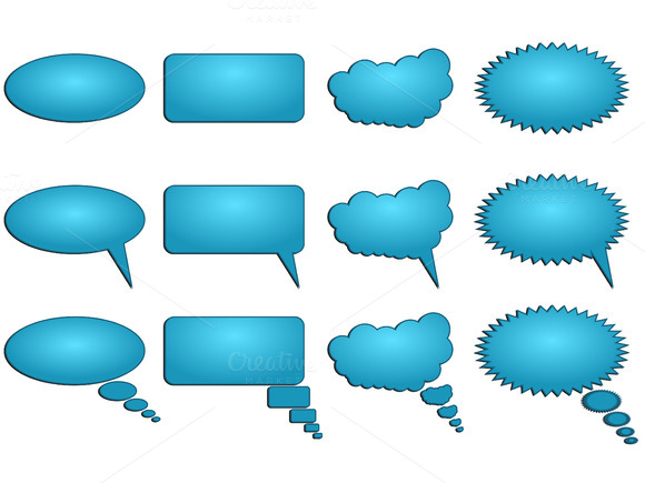 Dialogue Bubbles Vector Illustration