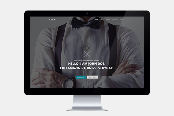 Web Designer One Page Template