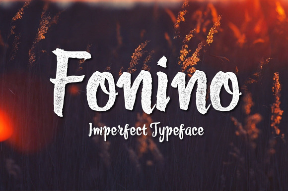 Fonino Imperfect Typeface