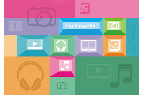 Multimedia Icons Of User Interface