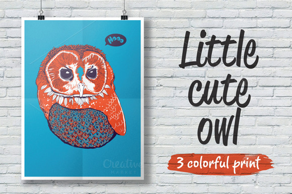 Print With Cute Little Owl