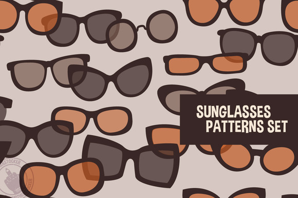 Sunglasses Patterns Set
