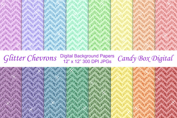 Glitter Chevron Background Papers