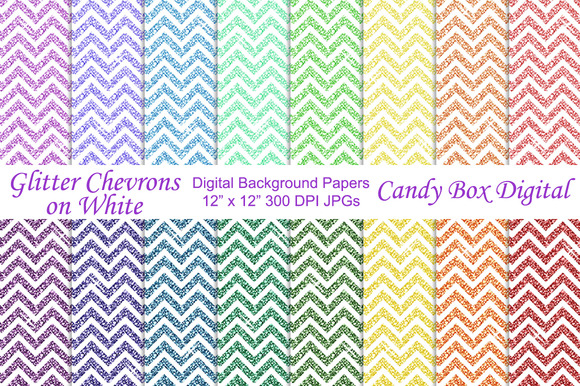 Glitter Chevron Background Papers 2