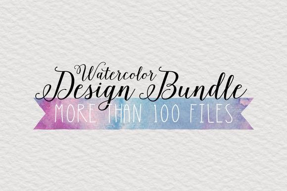 HUGE Watercolor Design Bundle