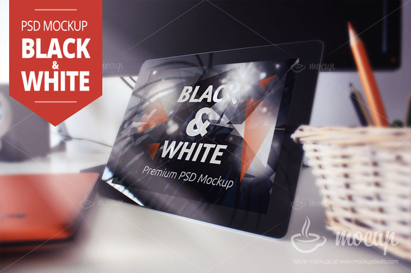 IPad 2 PSD Mockup Black White