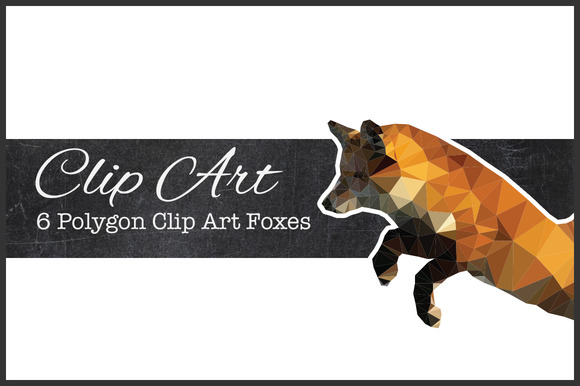 Polygon Fox Clip Art