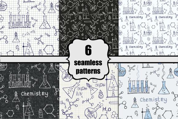 Chemistry Doodle Seamless Patterns