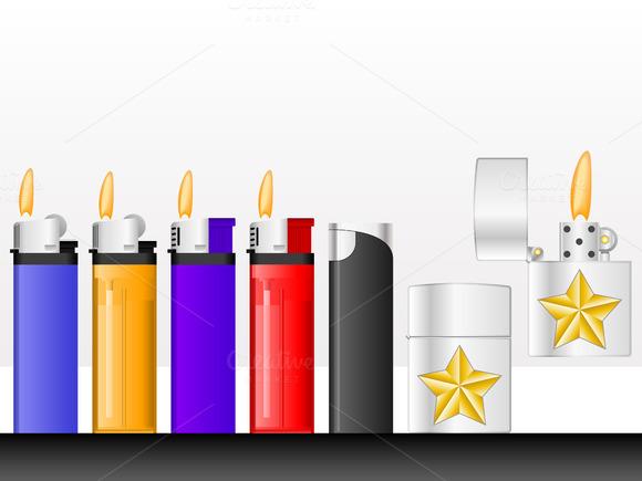 Lighters Vector Illustration