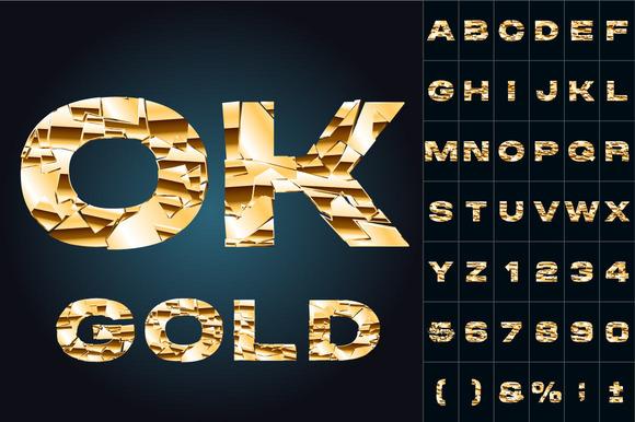 Broken Golden Alphabet