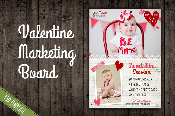 Valentine Marketing Blog Board PSD
