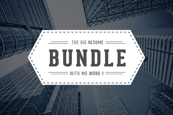 5 In 1 Resume CV Bundle With MS Word