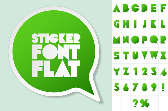 Alphabet In The Form Of Stickers