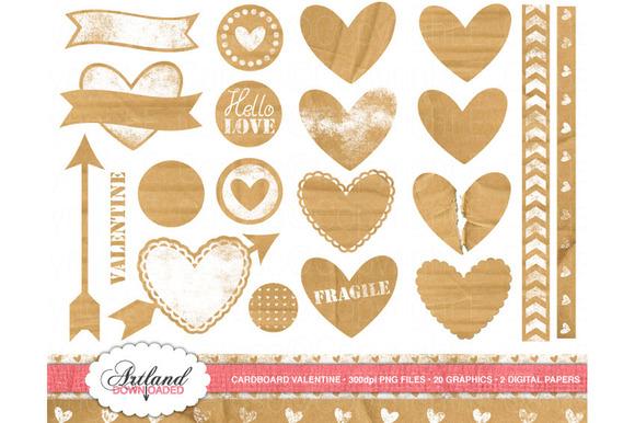 Cardboard Valentine Clipart N Paper
