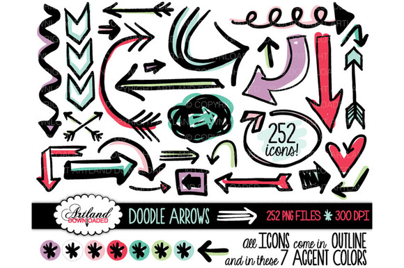 Doodle Arrows Clipart Value Pack