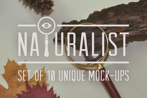 Naturalist Set Of Unique Mock-Ups